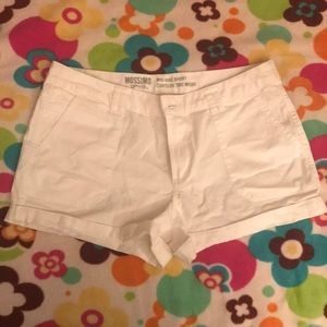 Mossimo Supply Co. mid rise white shorts